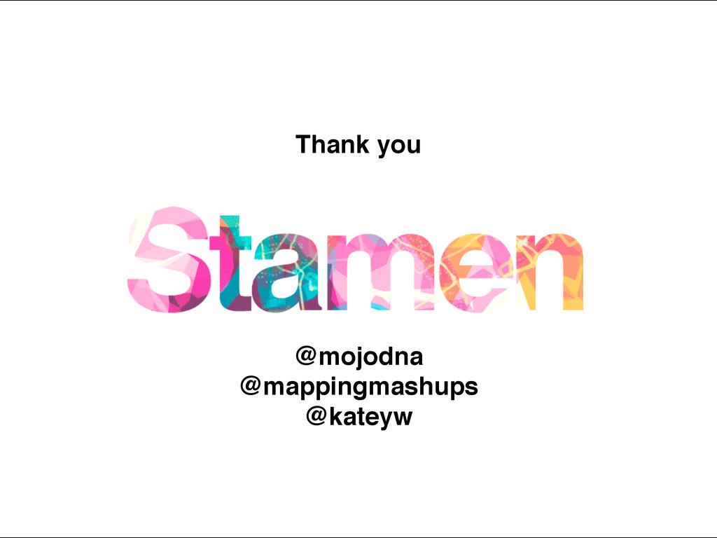 Thank you @mojodna! @mappingmashups! @kateyw