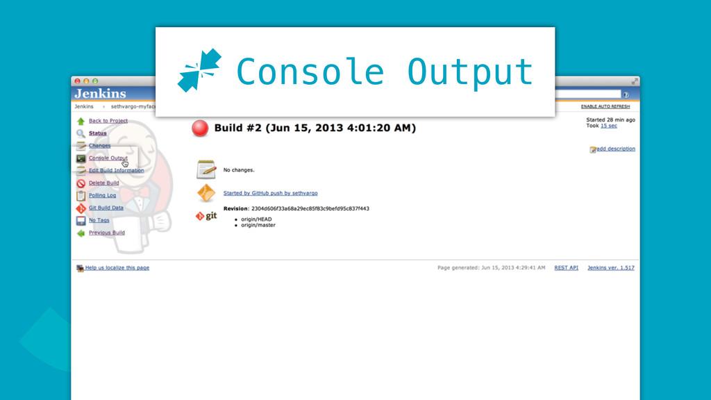JConsole Output J