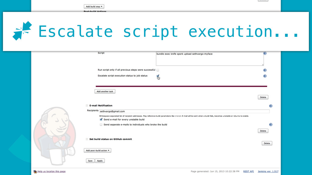 J Escalate script execution... J