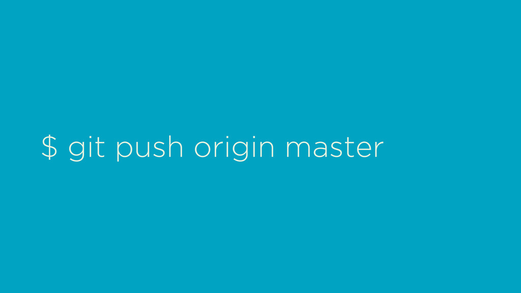 $ git push origin master