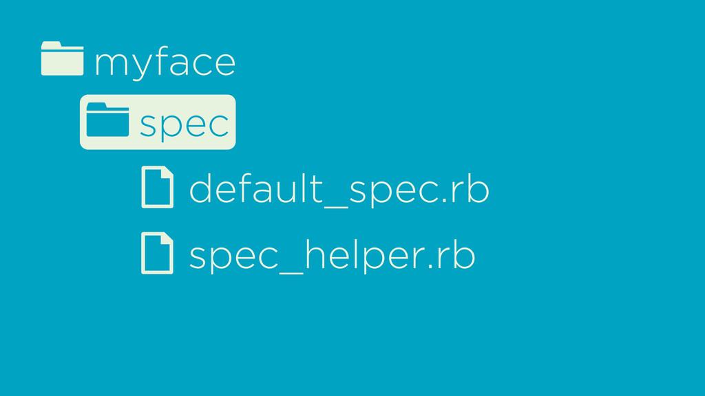 fmyface d spec_helper.rb fspec d default_spec.rb