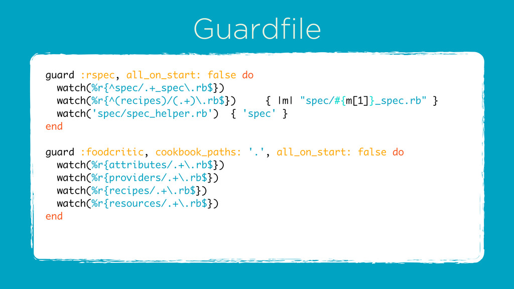 Guardfile guard :rspec, all_on_start: false do ...