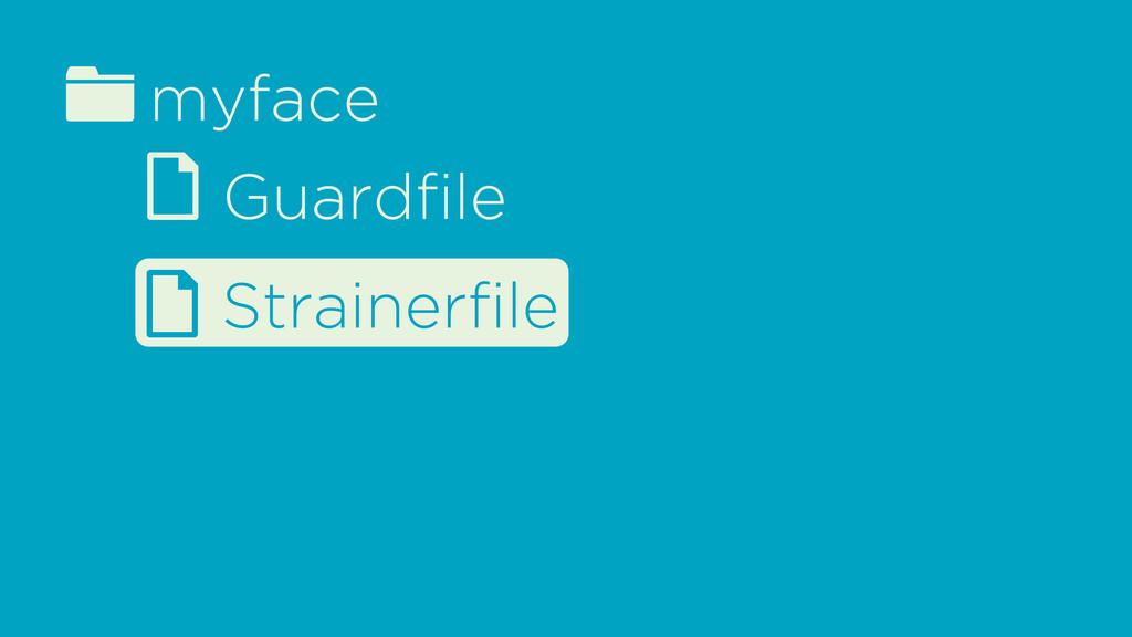 fmyface d Guardfile d Strainerfile