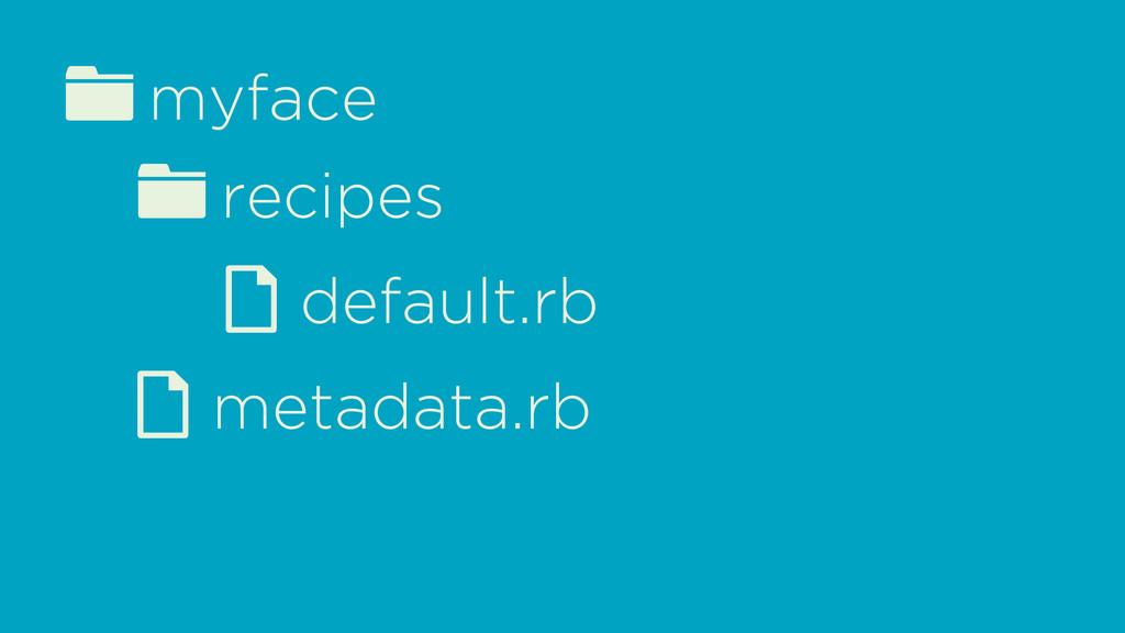 fmyface d metadata.rb frecipes d default.rb