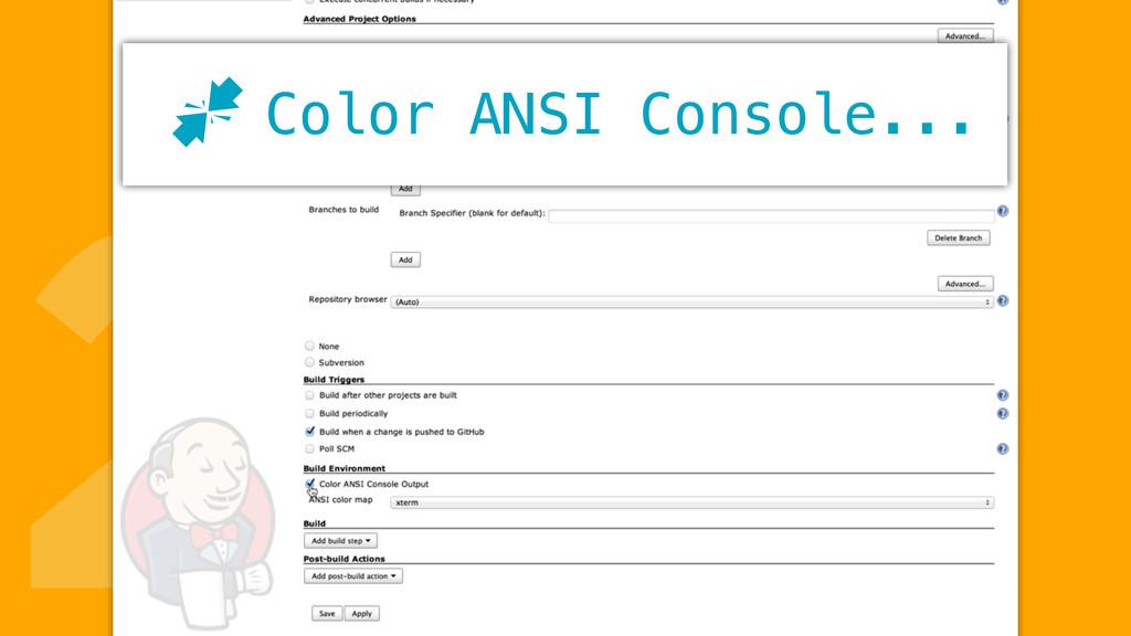 2Color ANSI Console... J