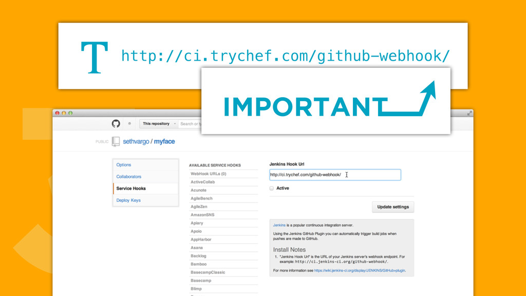 3http://ci.trychef.com/github-webhook/ T IMPORT...