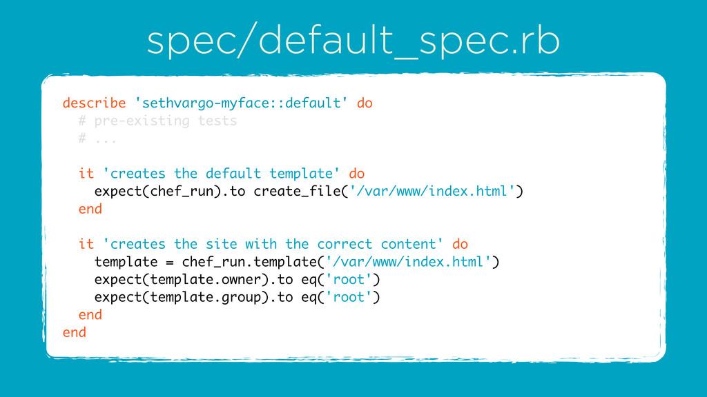 spec/default_spec.rb describe 'sethvargo-myface...