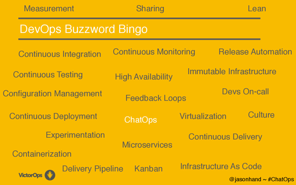 DevOps Buzzword Bingo Continuous Integration Co...