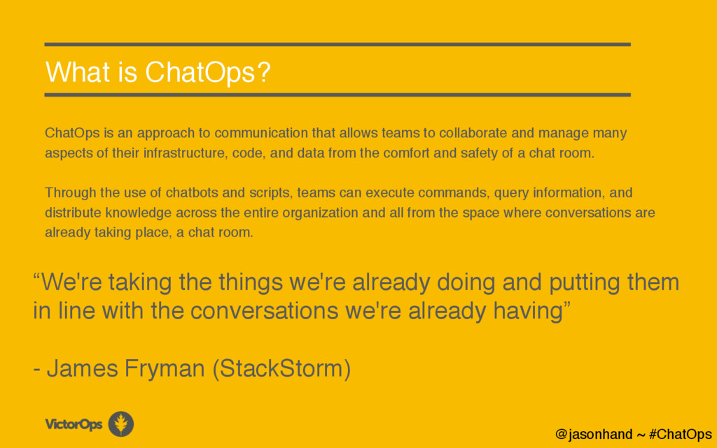 What is ChatOps? ChatOps is an approach to comm...