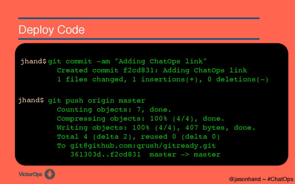 Deploy Code git push origin master Counting obj...