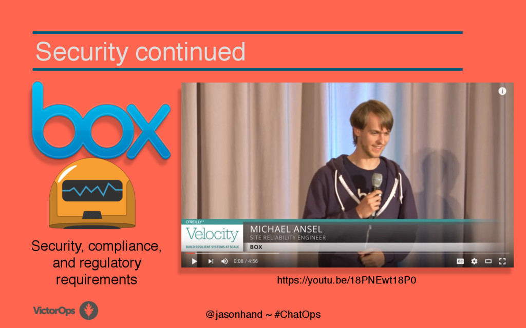Security continued @jasonhand ~ #ChatOps Securi...