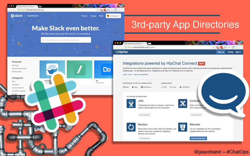 @jasonhand ~ #ChatOps 3rd-party App Directories