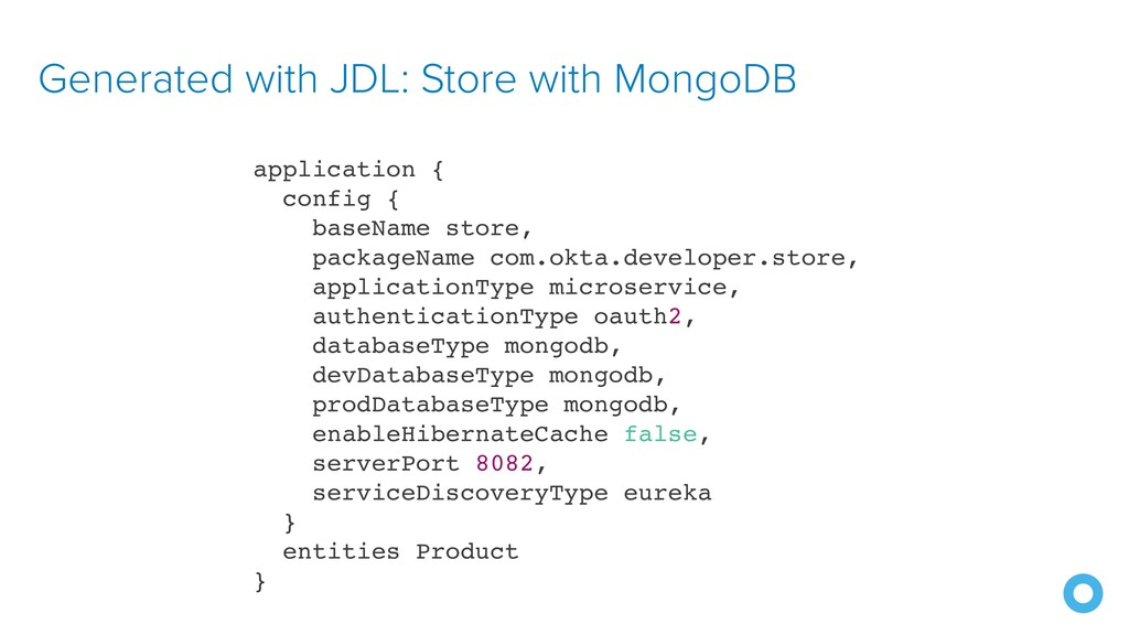 Generated with JDL: Store with MongoDB applicat...