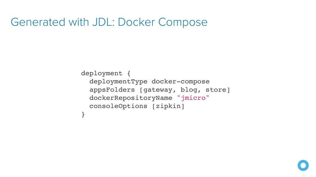 Generated with JDL: Docker Compose deployment {...