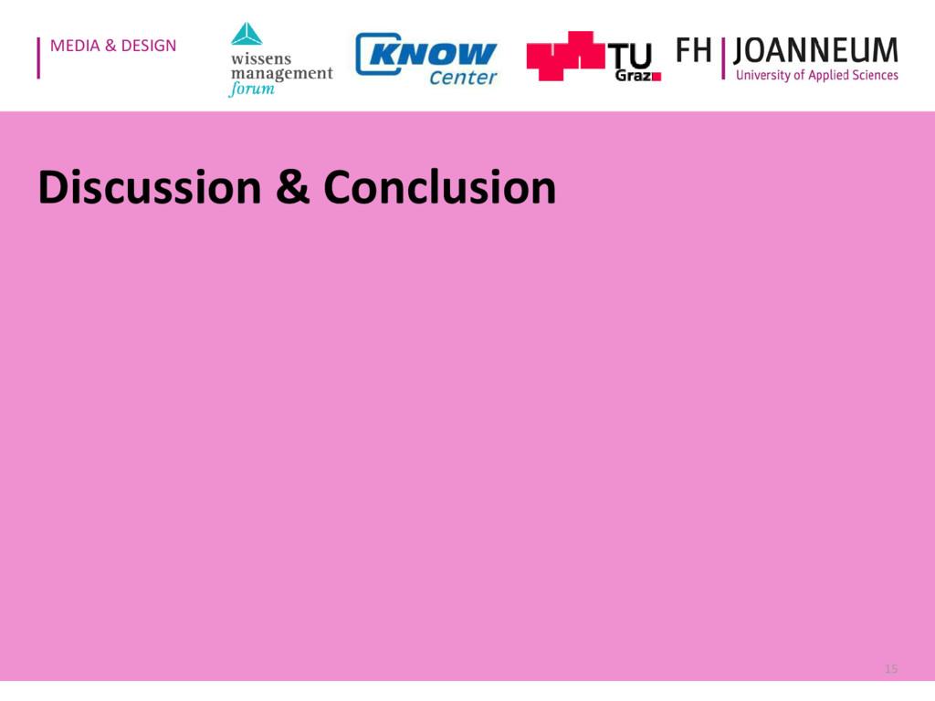 MEDIA & DESIGN Discussion & Conclusion 15