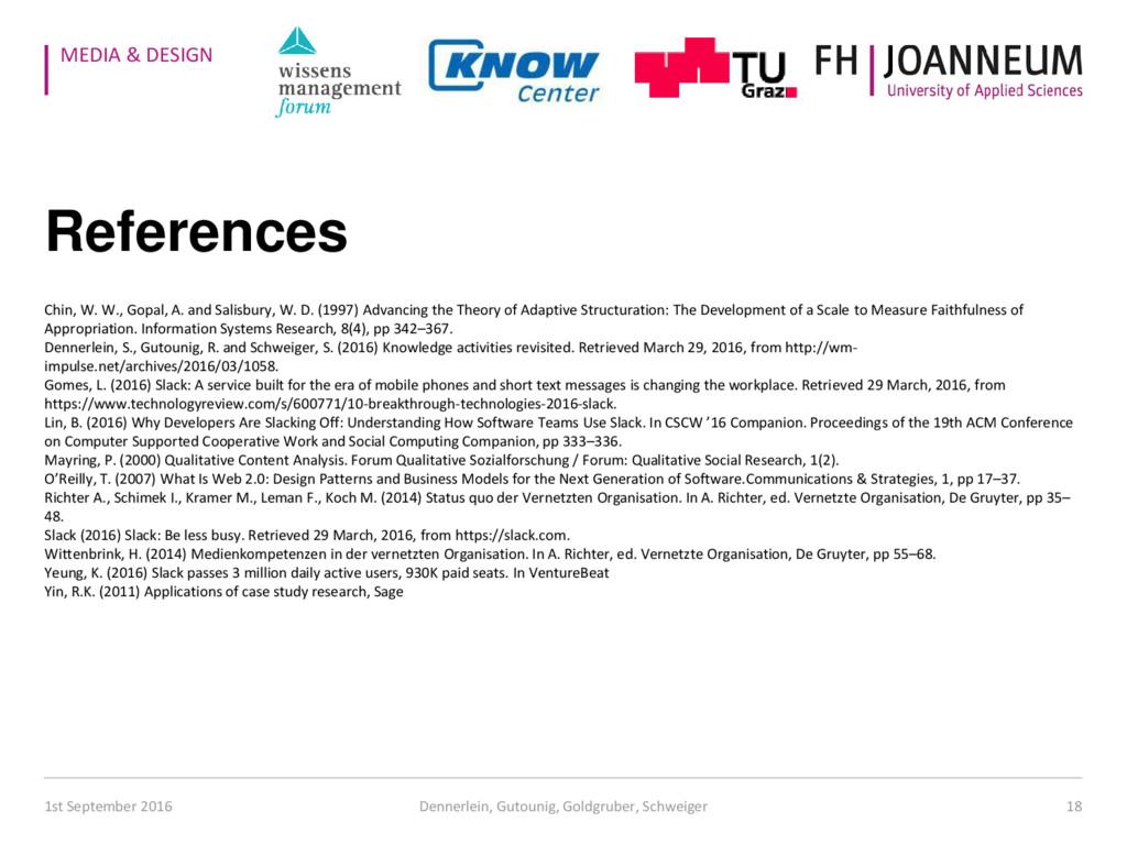 MEDIA & DESIGN References Chin, W. W., Gopal, A...