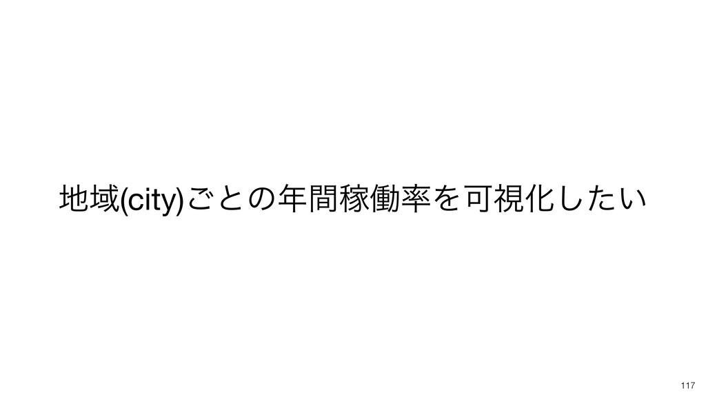 Ҭ(city)͝ͱͷؒՔಇΛՄࢹԽ͍ͨ͠ 117