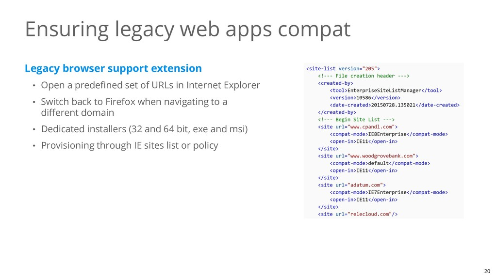 Legacy browser support extension • Open a prede...