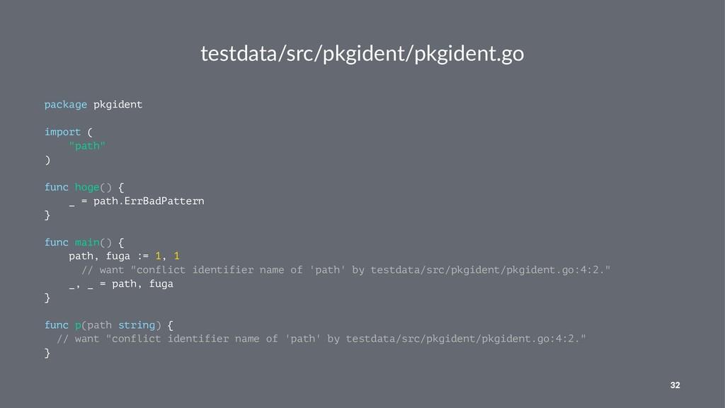 testdata/src/pkgident/pkgident.go package pkgid...