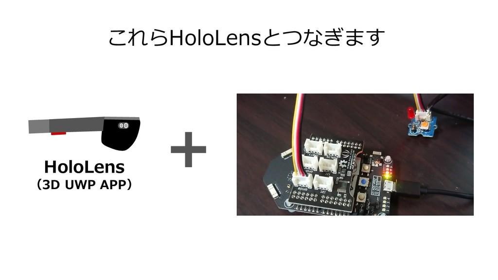 これらHoloLensとつなぎます HoloLens (3D UWP APP)