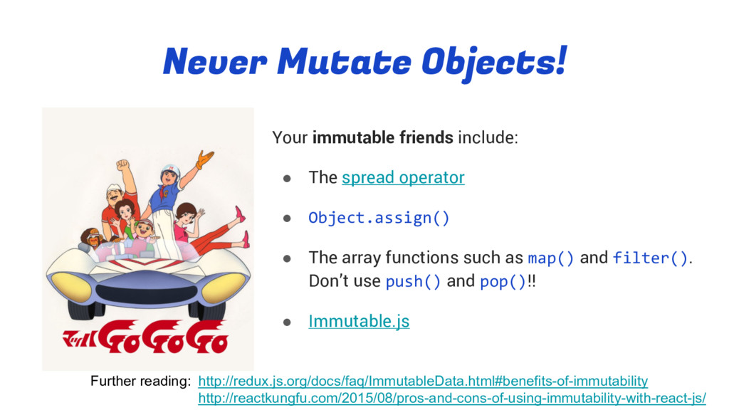Never Mutate Objects! Your immutable friends in...