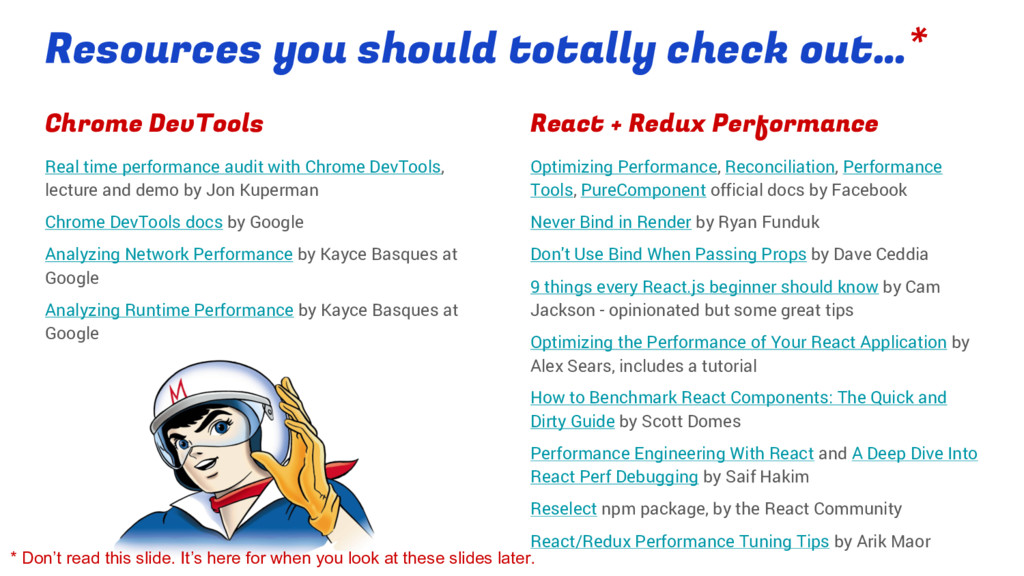 Resources you should totally check out…* Chrome...