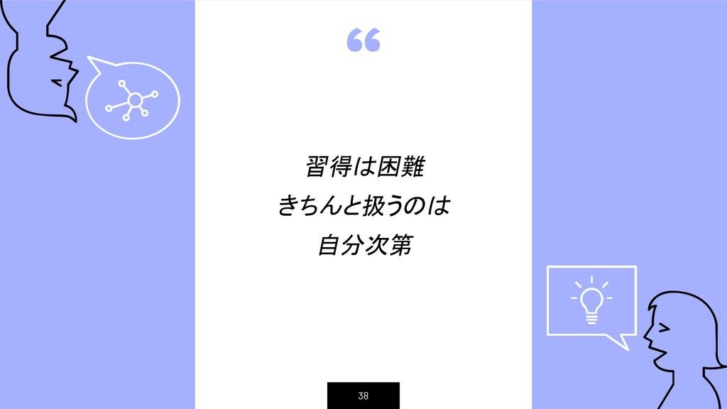 """"""" 習得は困難 きちんと扱うのは 自分次第 38"""