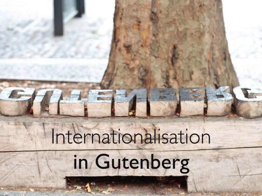 Internationalisation in Gutenberg