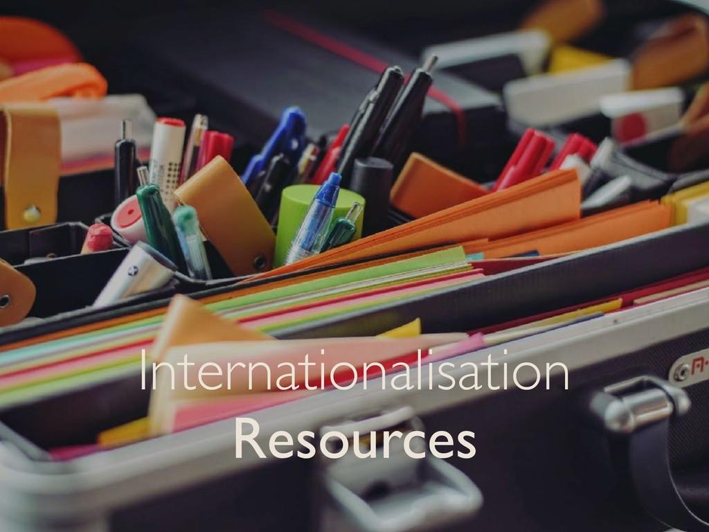 Internationalisation Resources