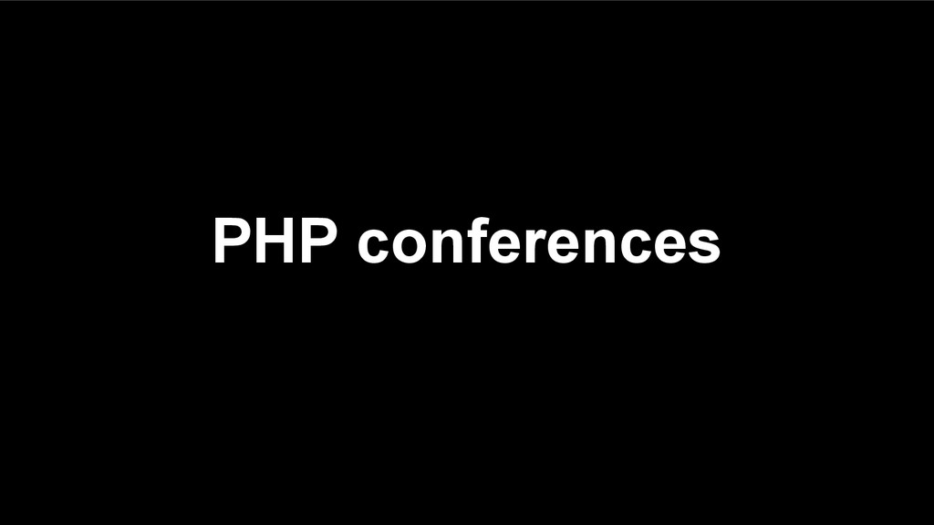 PHP conferences