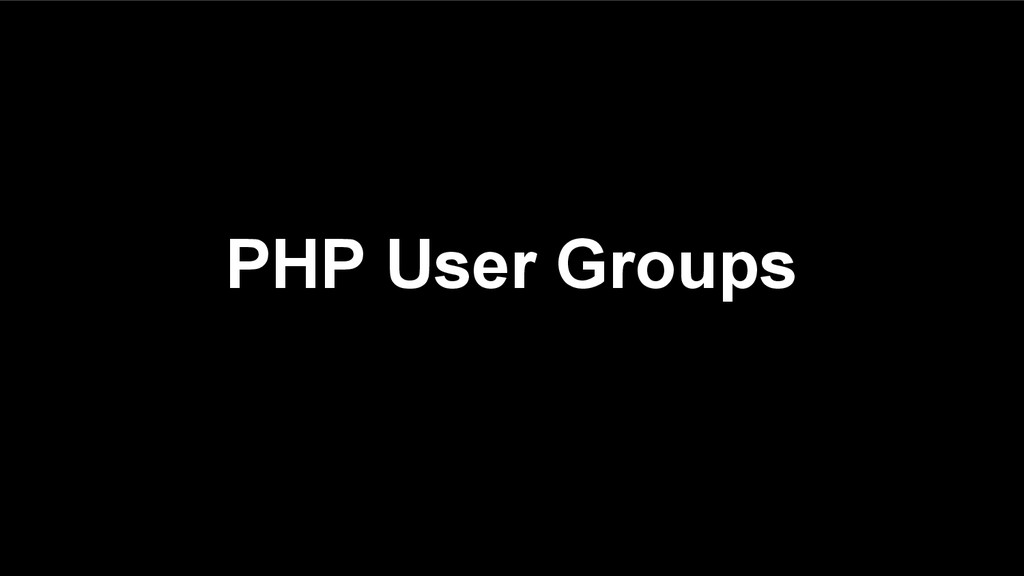PHP User Groups