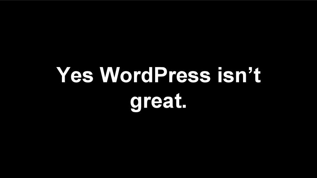 Yes WordPress isn't great.