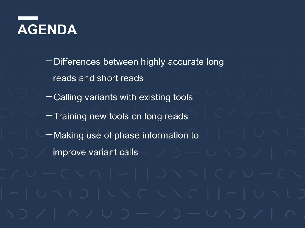 AGENDA -Differences between highly accurate lon...