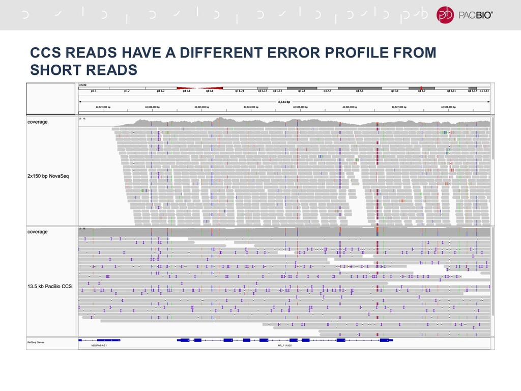 CCS READS HAVE A DIFFERENT ERROR PROFILE FROM S...