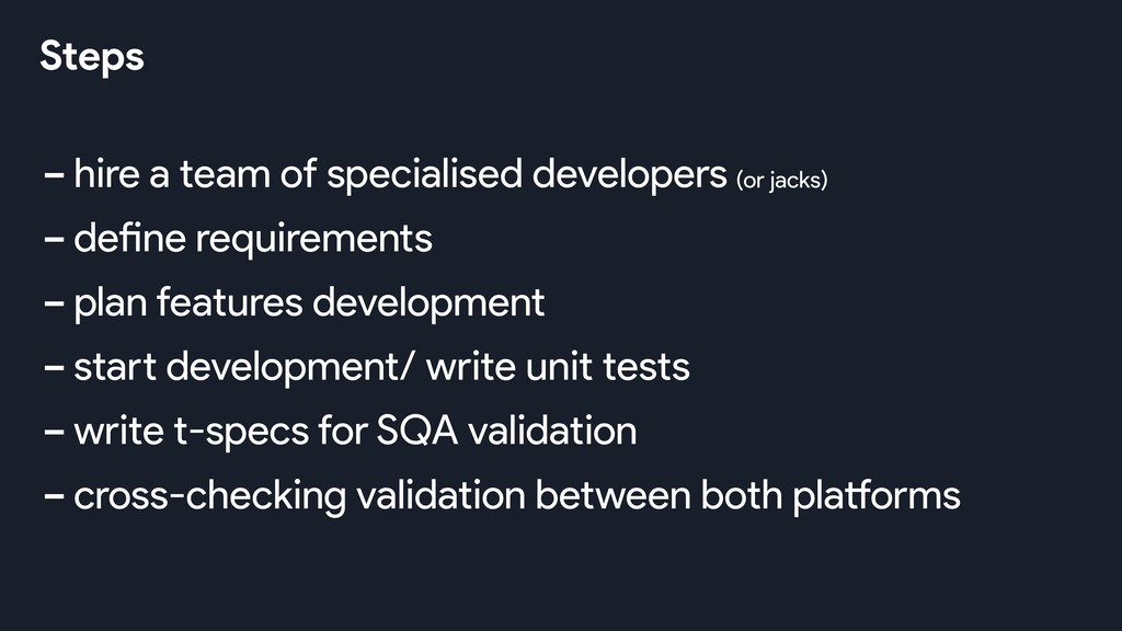 -hire a team of specialised developers -define ...