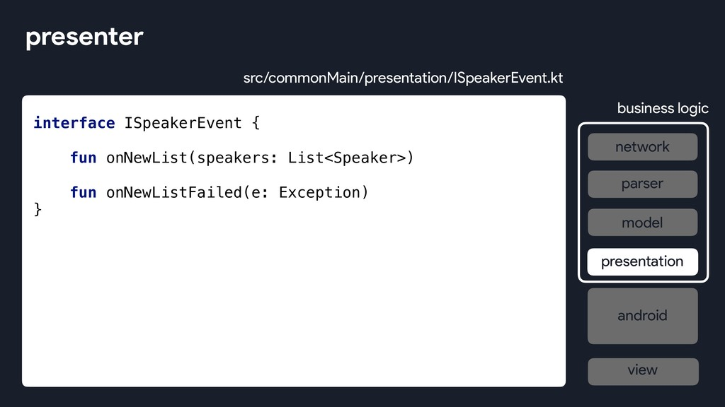 interface ISpeakerEvent { fun onNewList(speaker...