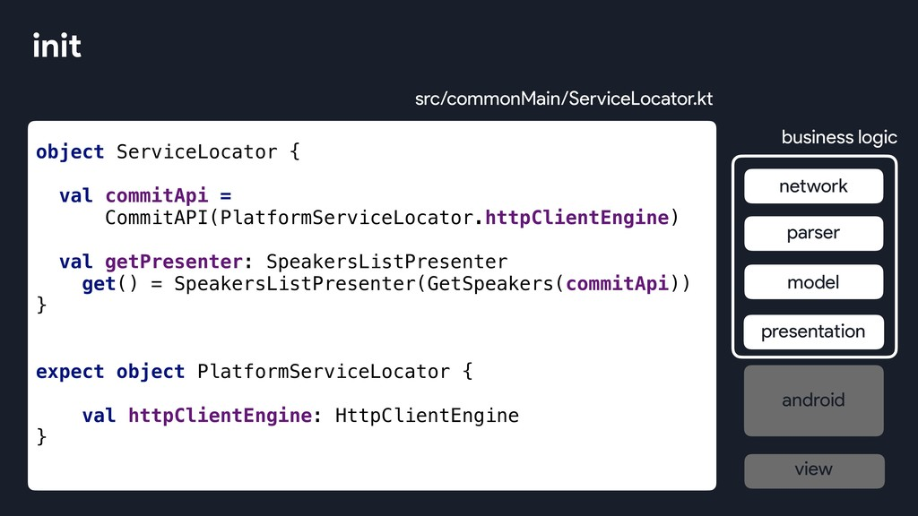object ServiceLocator { val commitApi = CommitA...