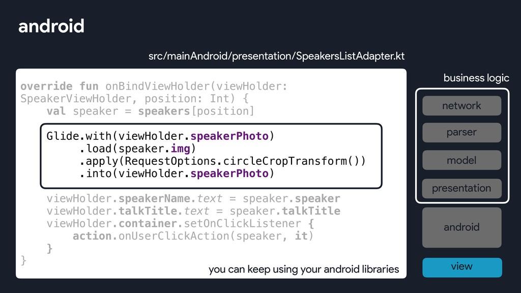 override fun onBindViewHolder(viewHolder: Speak...