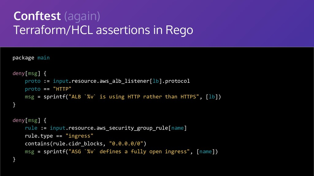 Conftest (again) Terraform/HCL assertions in Re...