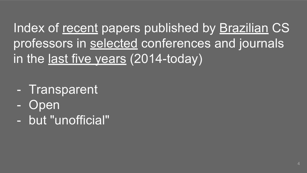 Index of recent papers published by Brazilian C...