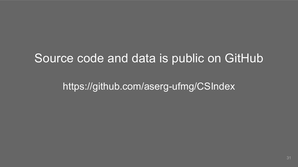Source code and data is public on GitHub https:...