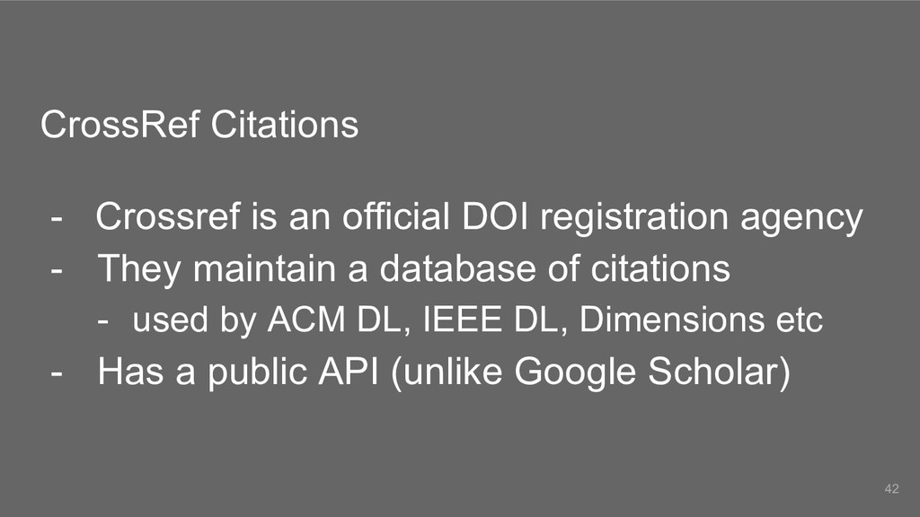 CrossRef Citations - Crossref is an official DO...
