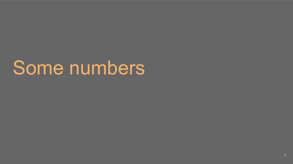 Some numbers 6
