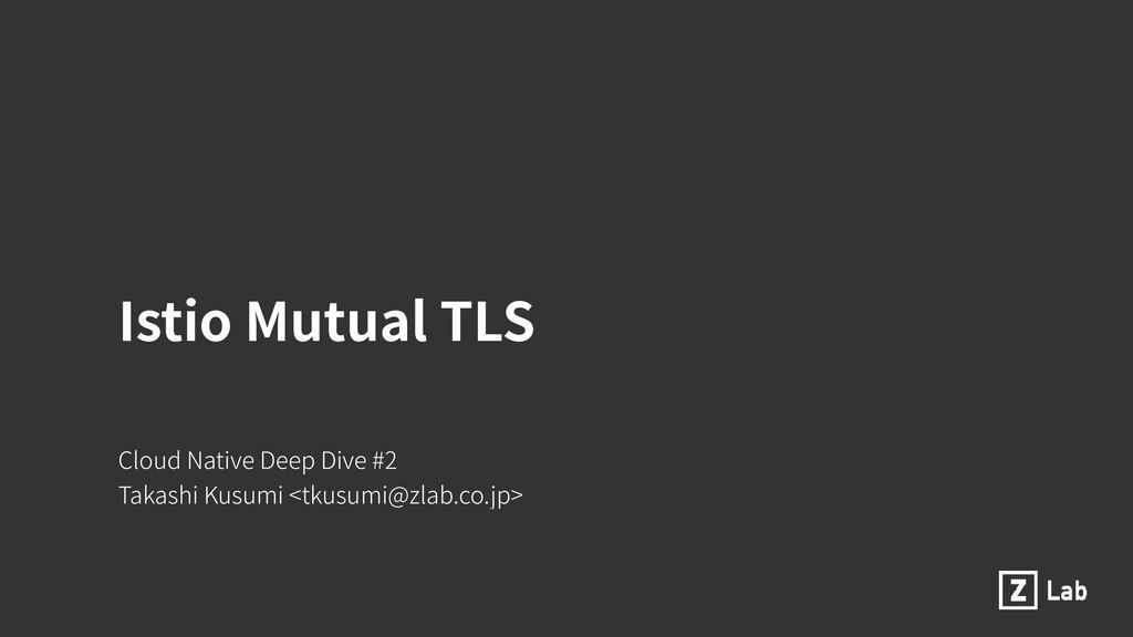 Istio Mutual TLS Cloud Native Deep Dive #2 Taka...