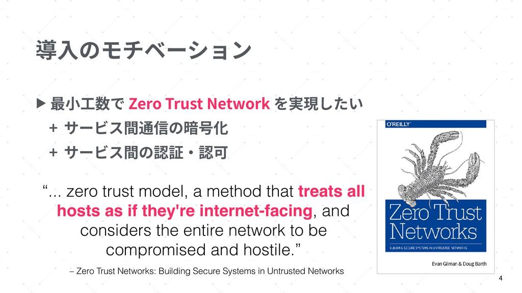 導⼊のモチベーション ▶ 最⼩⼯数で Zero Trust Network を実現したい + ...