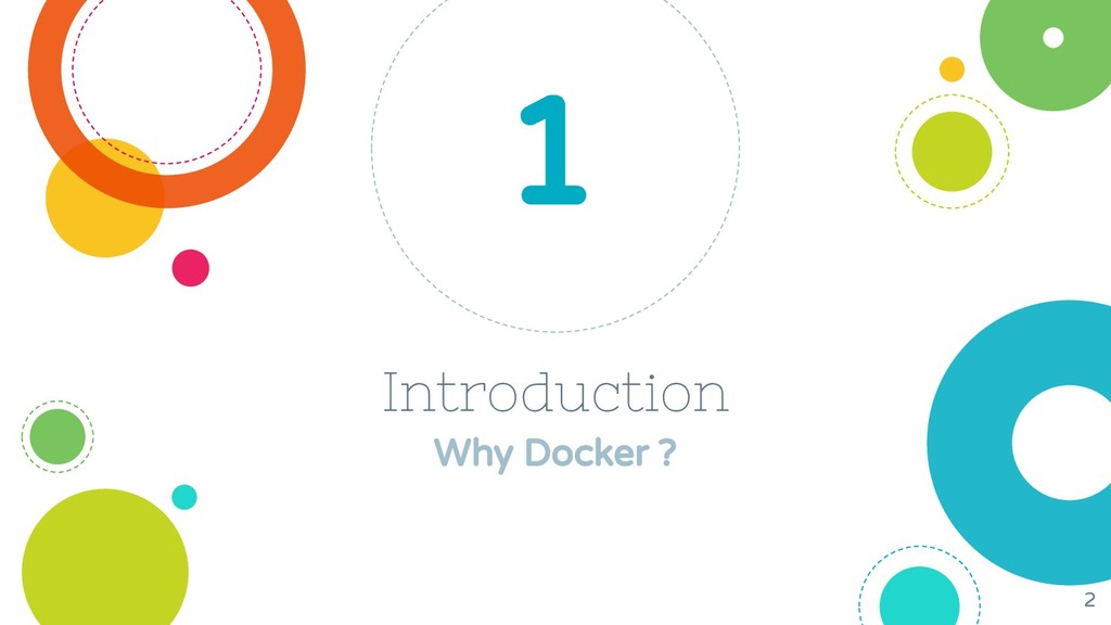 Introduction Why Docker ? 1 2