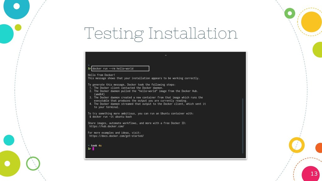 Testing Installation 13