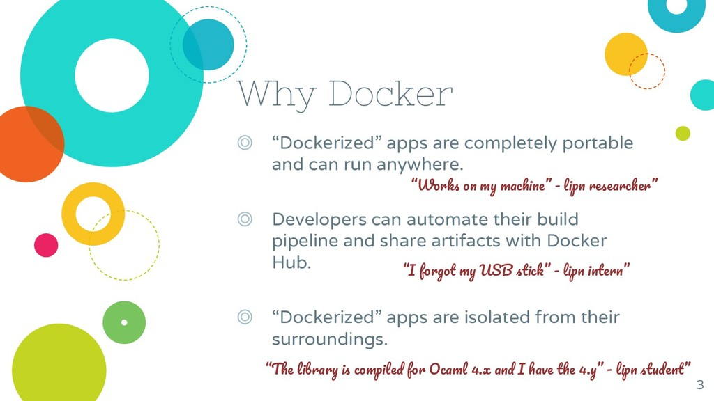 """Why Docker ◎ """"Dockerized"""" apps are completely p..."""