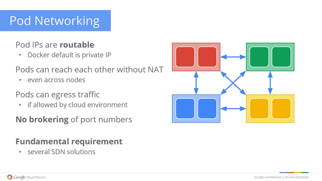 Google confidential │ Do not distribute Pod Net...