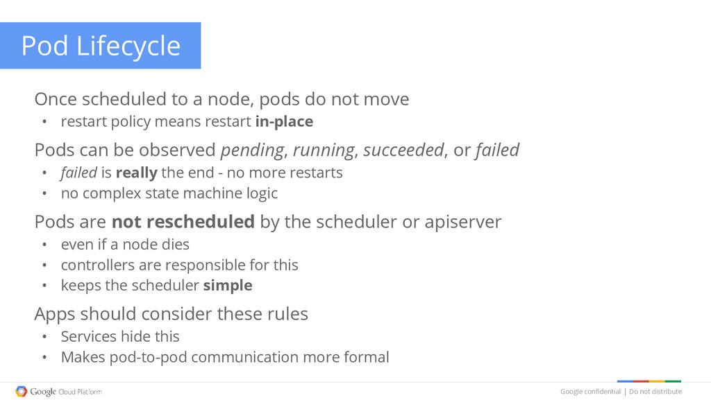 Google confidential │ Do not distribute Pod Lif...
